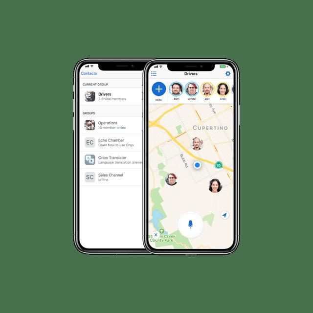 Orion App Talk screen shot on iPhone X